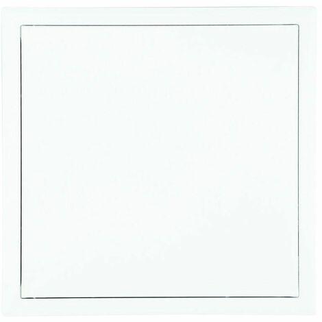Trappe de visite carré, en acier laqué blanc. Ouverture système clic
