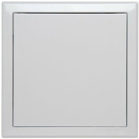 """main image of """"Trappe de visite métallique laquée blanche Semin - 500 mm x 500 mm - ouverture poussez/lâchez - accès aux gaines techniques et conduites pour murs et plafonds"""""""
