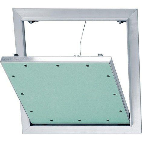 Trappe revision Alu-Star a retenue et plaque GK 12,5mm Dim. insert 300x300mm