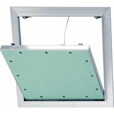 Trappe revision Alu-Star a retenue et plaque GK 12,5mm Dim. insert 500x500mm