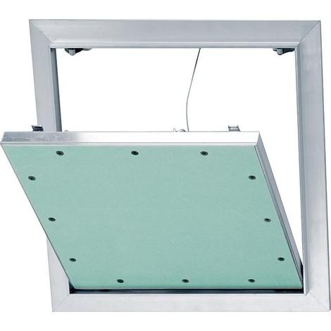 Trappe revision Alu-Star a retenue et plaque GK 2x12,5mm Dim. insert 600x600mm