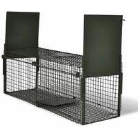 Trappola per Animali Vivi con 2 Porte