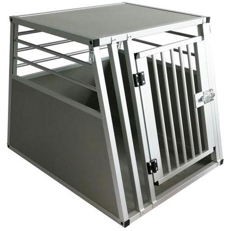 Trasportino Per Cani Da Auto Singolo Small Gabbia In Alluminio Per