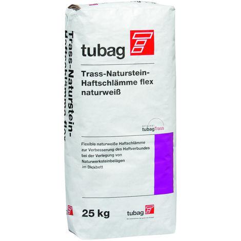 Trass Naturstein Haftschlämme flex naturweiß, 25kg, tubag