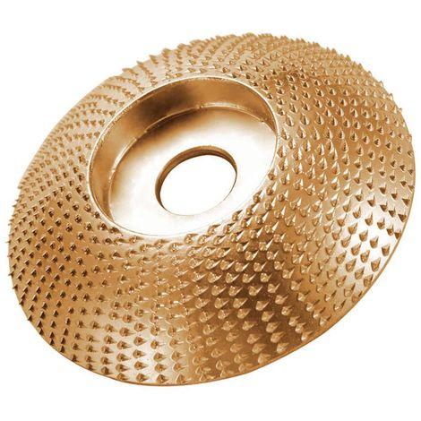 """main image of """"Tratamiento de la madera polaca Thorn Placa amoladora angular abrasivo Ronda Rueda esmerilado y pulido rueda con Prick, Oro, Arco"""""""