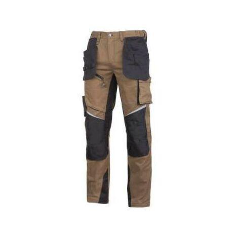 Travail pantalon taille protection marron slim Pro L40522 Lahti