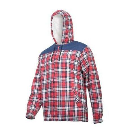 Travailler chemise de flanelle à carreaux avec peau de mouton chauffé Pro L41807 Lahti