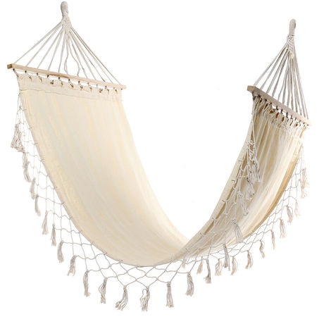 Travel Camping Hammock Swivel Hanging Chair Indoor Outdoor Cotton Portable Swing Bed For Porch Type A