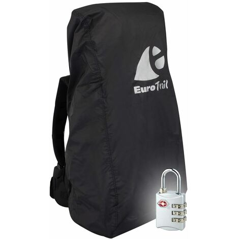 Travelsafe Backpack Combo Cover with TSA Lock L Black
