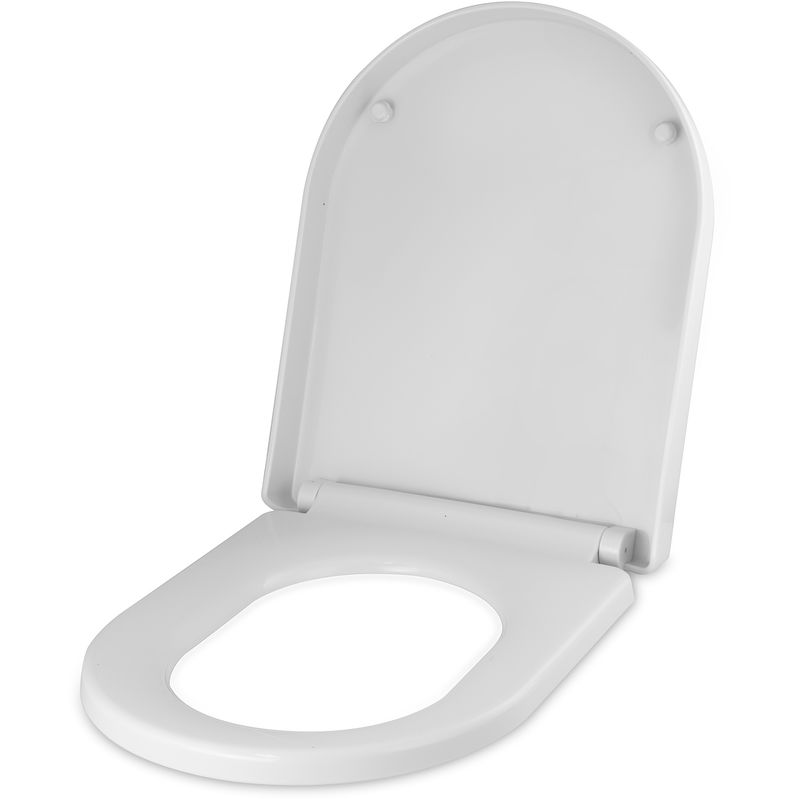 Premium D-SHAPE Soft Close WHITE Toilet Seat Bathroom Accesorios de baño Top Fixing Hinges WC by Cassellie
