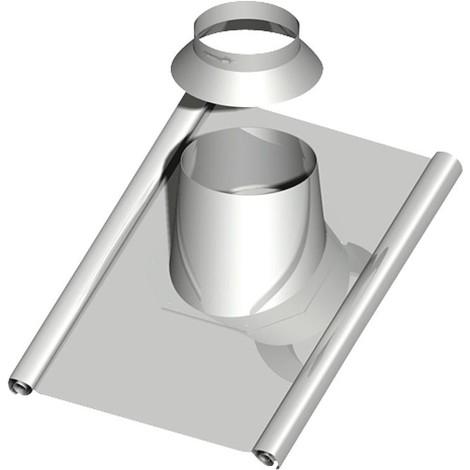 Traverse de toit 45-55°, DN 200, avec tablier protect. plomb env. 1000x900mm dérivation pluie incluse