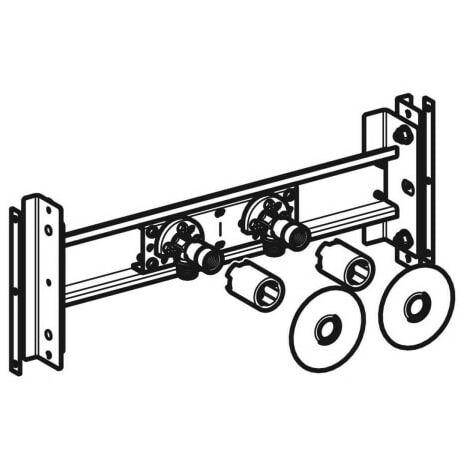 Traverse Geberit Duofix pour robinetterie murale apparente, position de robinetterie variable