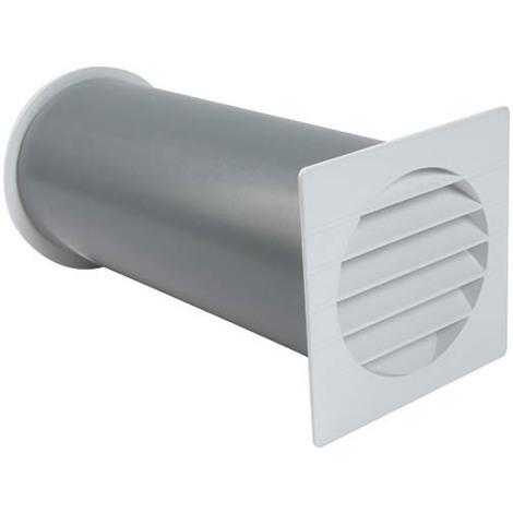 Traversée de mur acoustique passage de 50 cm² blanc