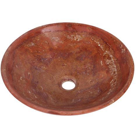 Travertine Marble Stone Round Bowl Bathroom Wash Basin 350mm diameter B0064