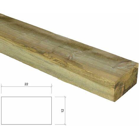 Traviesa de madera tratada 18x09x200. ECOLÓGICA.