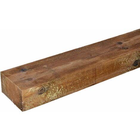Traviesa de madera tratada 22x12x200. MARRÓN. ECOLÓGICA.