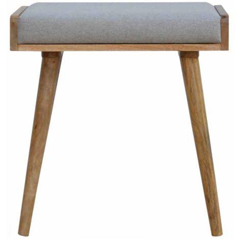 Tray Style Grey Tweed Footstool