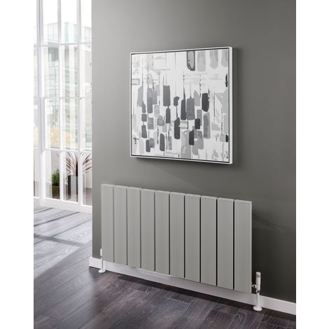 TRC Kura Aluminium Grey Horizontal Designer Radiator 600mm x 715mm