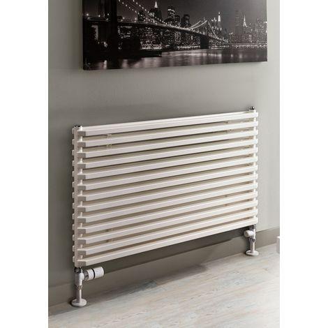 TRC Sax Steel White Double Panel Horizontal Designer Radiator 520mm x 900mm