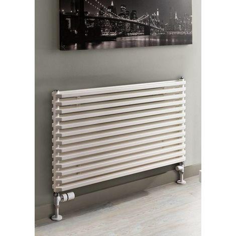 TRC Sax Steel White Single Panel Horizontal Designer Radiator 600mm x 900mm