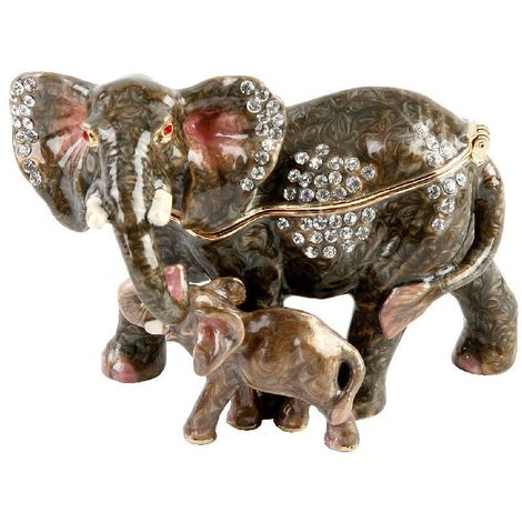 Treasured Trinket - Elephant and Calf