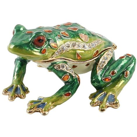 Treasured Trinkets - Frog about to Jump