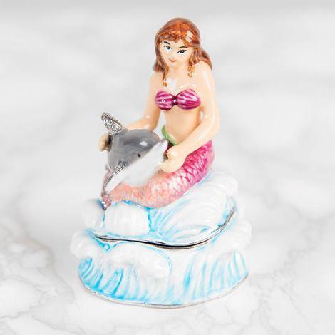 Treasured Trinkets - Mermaid & Dolphin Jewellery Box