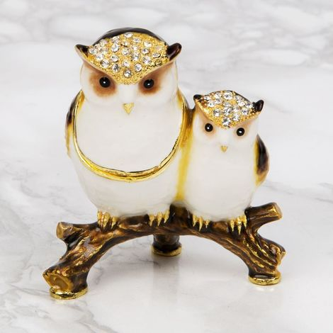 Treasured Trinkets - Mother & Baby Owl