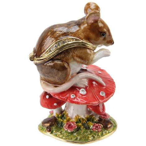 Treasured Trinkets - Mouse on Toadstool