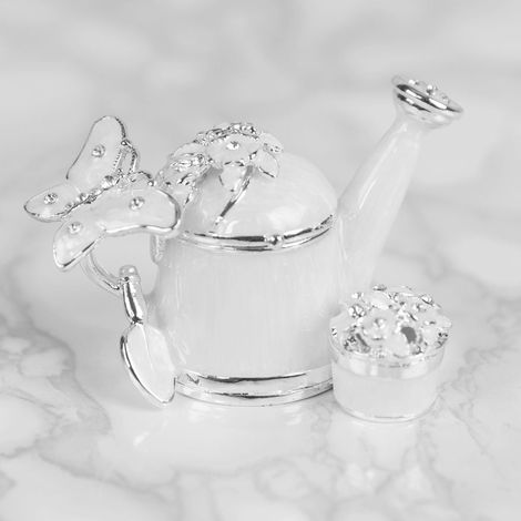 Treasured Trinkets - Watering Can & Flower