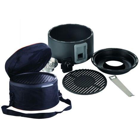 Trebs Grille de table pour charbon de bois avec ventilateur intégré
