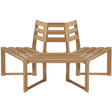 Tree Bench Half-hexagonal 160 cm Solid Acacia Wood