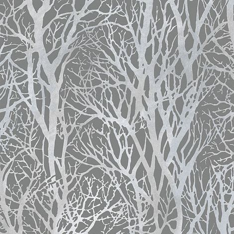 Tree Branches Wallpaper White and Silver - AS Creation 30094-1