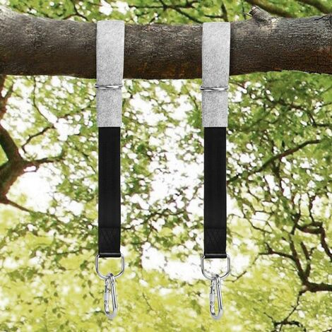 """main image of """"Tree Swing Straps Hanging Kit, 200cm Tree Straps with 2 Tree Protectors Pads + 2 Carabiners + 1 Carrying Bag, Holds 1000KG, Ideal for Swings and Hammocks"""""""
