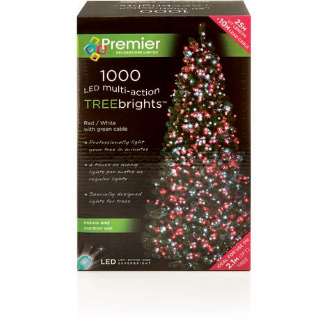 Treebright Multi Action 1000 LED Tree Lights - Red and White (No Timer Function)