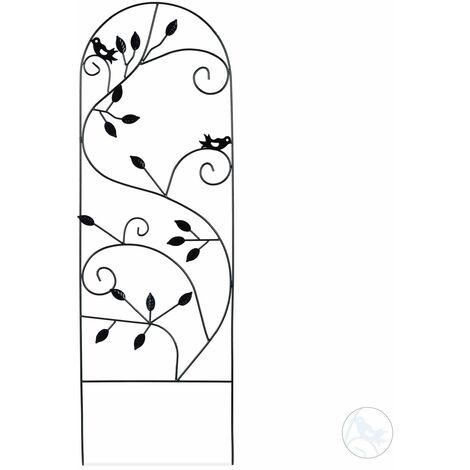 Treillis de jardin en fer 120 cm noir - Noir