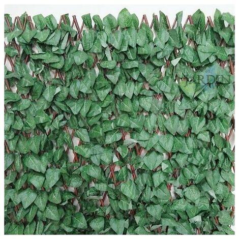 Treillis en osier de feuilles d'érable 1 x 2 mètres