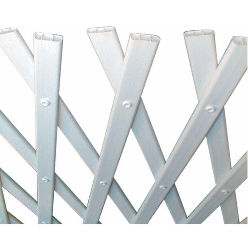 Treillis extensible en plastique 'Trelliflex' 1 x 3 m - Blanc