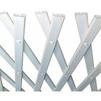 """Treillis extensible en plastique """"Trelliflex"""" 1 x 3 m - Blanc"""