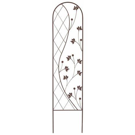 "Treillis floral zen"" Yin and Yang Trellis"" 0,35 x 1,50 m - Marron"