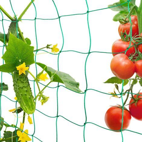 """main image of """"Treillis Jardin Filet, Support Plante Grimpante Filet 1.8m x 3.6m, Convient pour Concombres, Tomates, Recolte Filet de Grimpantes Plantes. Utilisé dans Les Serres, Les Balcons etc."""""""