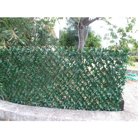 treillis osier feuilles laurier palme 1m x 2m
