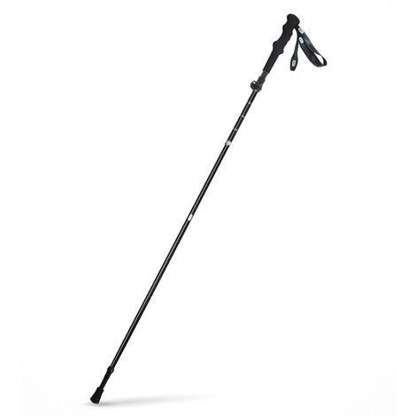 """main image of """"Trekking Pole Fibre De Carbone Leger Baton De Marche En Metal T-Manche Telescopique Batons De Marche En Plein Air Randonnee Batons De Marche Canne, Noir"""""""