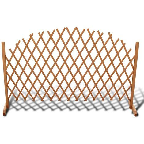 """main image of """"Trellis Fence Solid Wood 180x100 cm - Brown"""""""