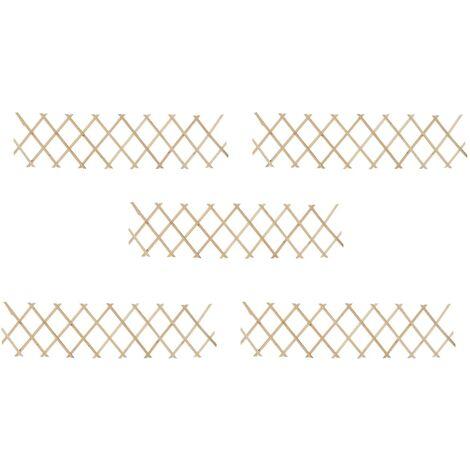 "main image of ""Trellis Fences 5 pcs Firwood 180x30 cm33080-Serial number"""