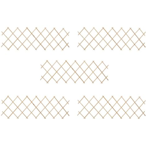 "main image of ""Trellis Fences 5 pcs Firwood 180x60 cm33081-Serial number"""