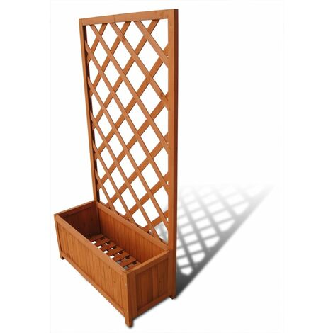 Trellis Planter 70 x 30 x 135 cm - Brown