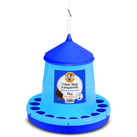Trémie bleue transparente 4kg