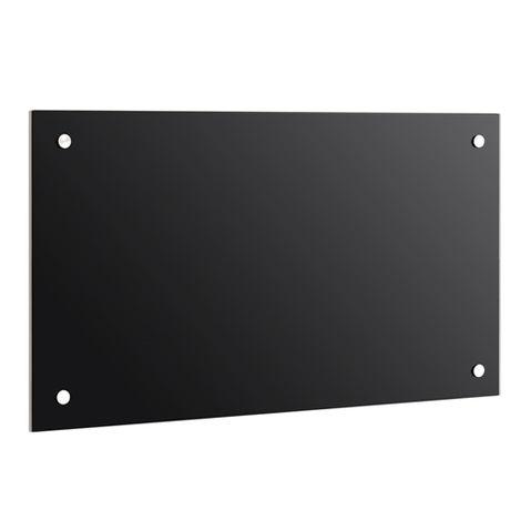 trempé transparent cuisine mur arrière rétroviseur carrelage miroir de protection murale tuile de cuisine verre noir  -