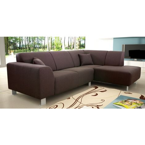 Trend Brown Fabric Corner Sofa